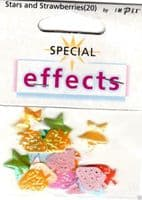 IMPEX SPECIAL EFFECTS - Embroidered STARS & STRAWBERRIES FX94